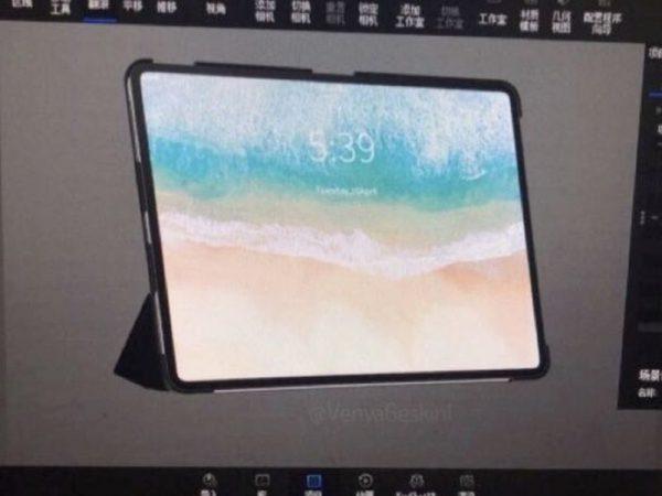 Rendu de l'iPad Pro 2018 : une tablette ultra-fine et sans bordure