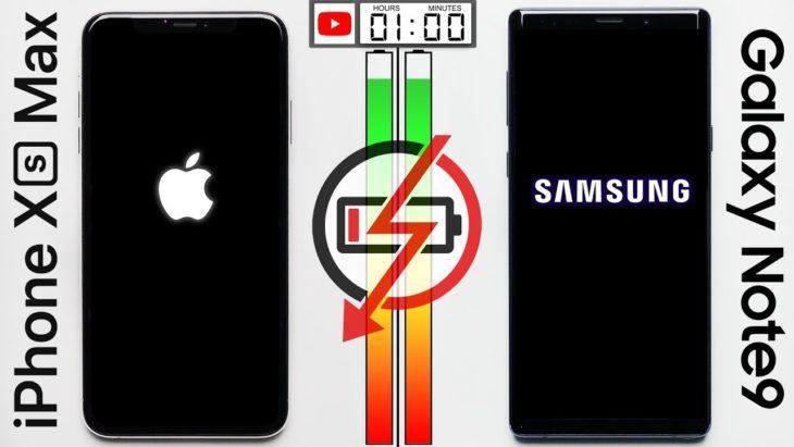 iPhone XS Max vs Galaxy Note 9 : lequel a la meilleure autonomie ?