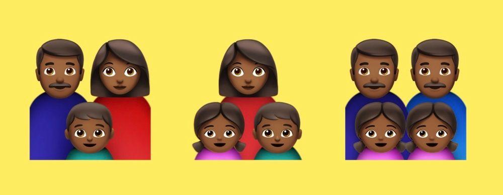 black family emojis - Unicode : les premiers Emoji de 2019 sont connus