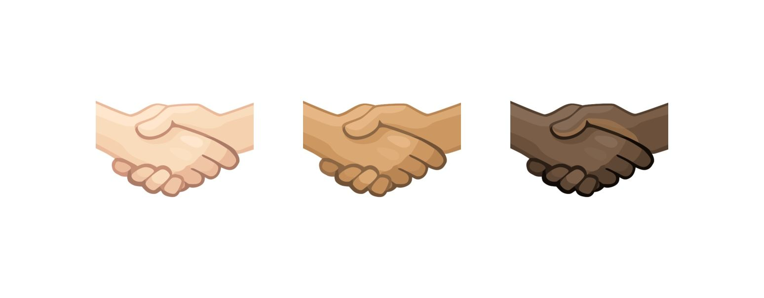 emoji handshake skin tones - Unicode : les premiers Emoji de 2019 sont connus