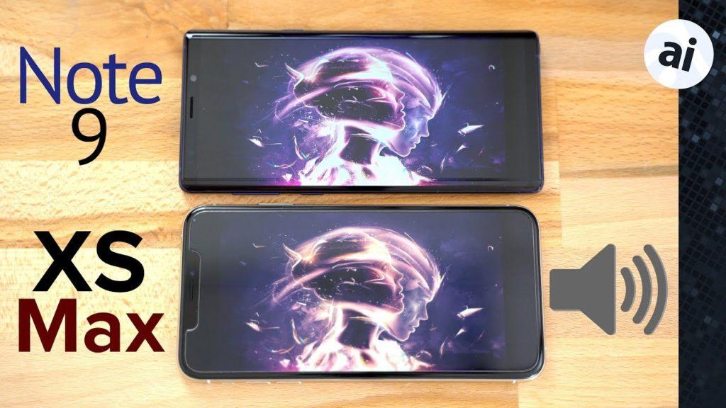 galaxy note 9 vs iphone xs max son haut parleur 1024x576 - iPhone XS Max vs Galaxy Note 9 : lequel à les meilleurs haut-parleurs ?