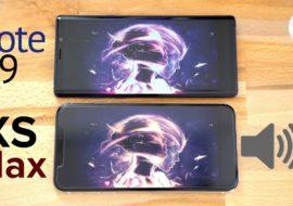 iPhone XS Max vs Galaxy Note 9 : lequel à les meilleurs haut-parleurs ?