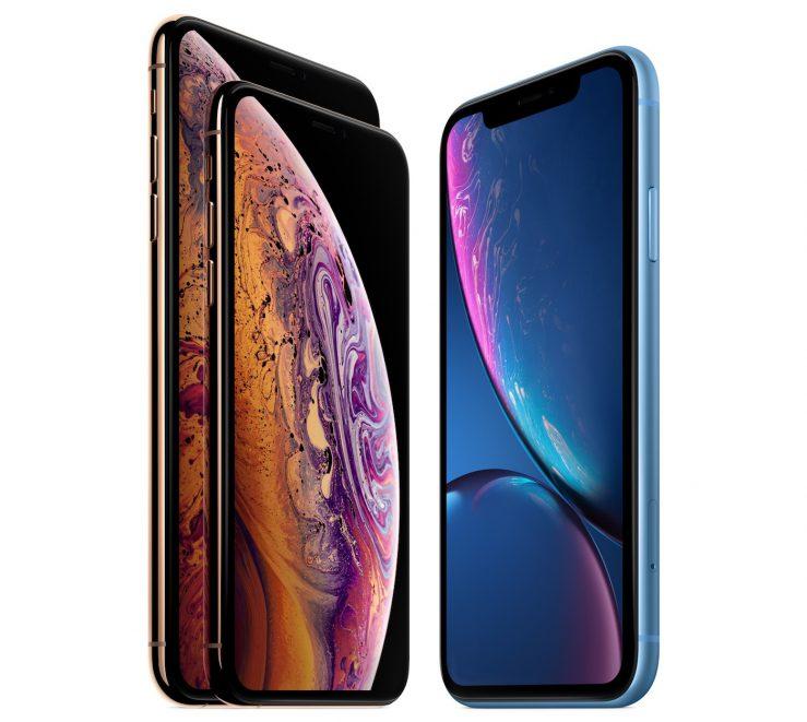 iPhone XS et iPhone XS Max vs iPhone XR Officiel Avant 739x661 - iPhone de 2019 : des tailles d'écrans identiques à ceux de 2018 ?