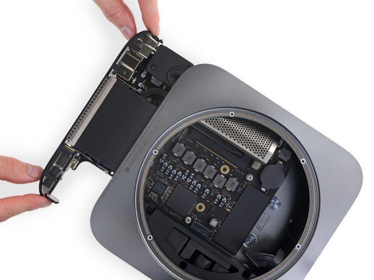 Mac mini 2018 Demontage 739x554 - Après le nouveau MacBook Air, iFixit a démonté le Mac Mini 2018
