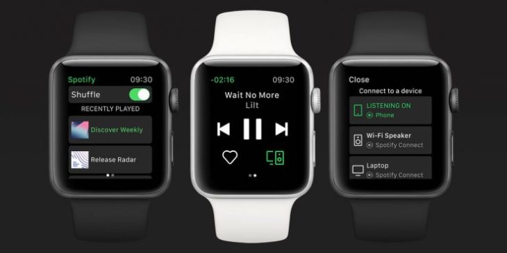 Spotify Music : la version finale enfin disponible sur l'Apple Watch