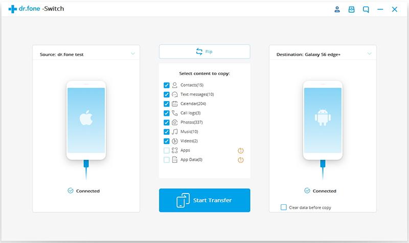 drfone switch - Nouvel iPhone XS : comment transférer ses photos d'Android à iOS ?