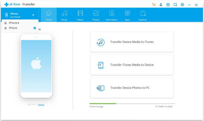 drfone transfert iphone - Nouvel iPhone XS : comment transférer ses photos d'Android à iOS ?