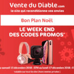 Vente Du Diable VDD Codes Promos Noel 2018 150x150 - Bon Plan : iPad Air à 464,99 € !
