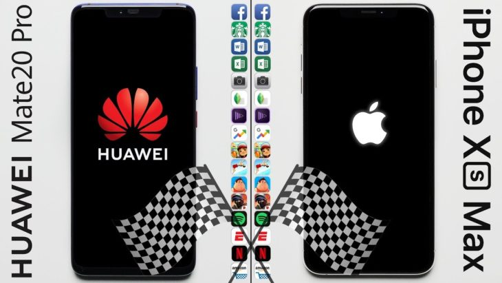 Speed Test : l'iPhone XS Max surpasse le Huawei Mate 20 Pro
