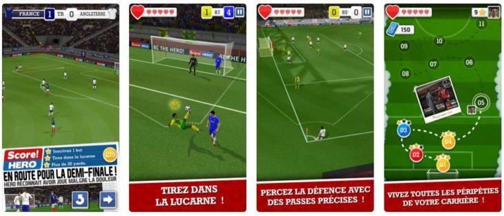 Jeu du jour : Score! Hero (iPhone & iPad – gratuit)