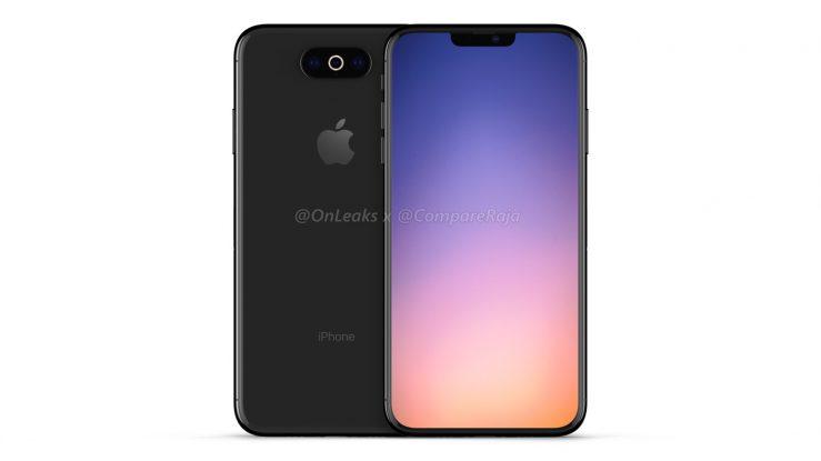 Rendu iPhone 2019 739x415 - iPhone de 2019 : des rendus 3D avec triple capteur photo horizontal