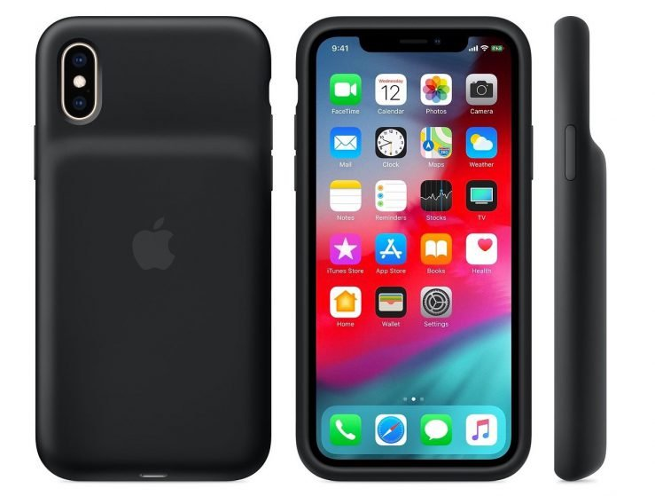 Smart Battery Case iPhone XS Noire Officielle 739x559 - Apple lance sa Smart Battery Case pour les iPhone XS, XS Max & XR