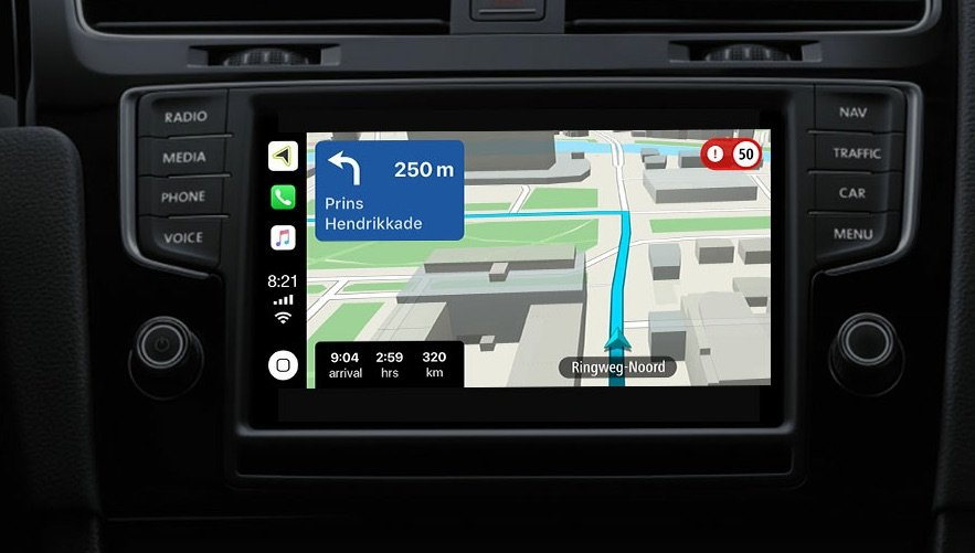 TomTom CarPlay - CarPlay : le GPS Tomtom ouvre les inscriptions à la bêta