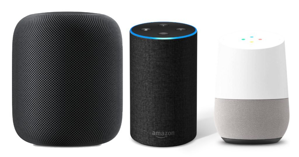homepod echo google home 1024x538 - Enceintes connectées : 1,7 million d'utilisateurs en France