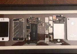Insolite : il démonte son iPhone 4 et en fait un joli tableau