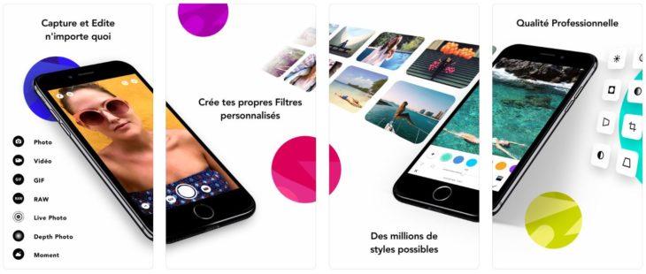 App du jour : infltr – infinités de filtres (iPhone & iPad – gratuit)