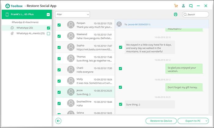 iskysoft toolbox 4 - Comment récupérer des messages supprimés de WhatsApp sur iPhone ?