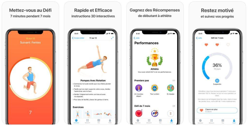 seven 7 minutes dexercice 1024x524 - App du jour : Seven - 7 minutes d'exercice (iPhone & iPad - gratuit)