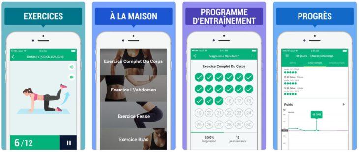 App du jour : 30 Jours Fitness Challenger (iPhone – gratuit)