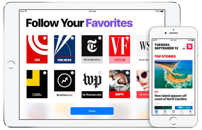 Apple News : 50% des revenus pour Apple, le reste divisé entre les médias