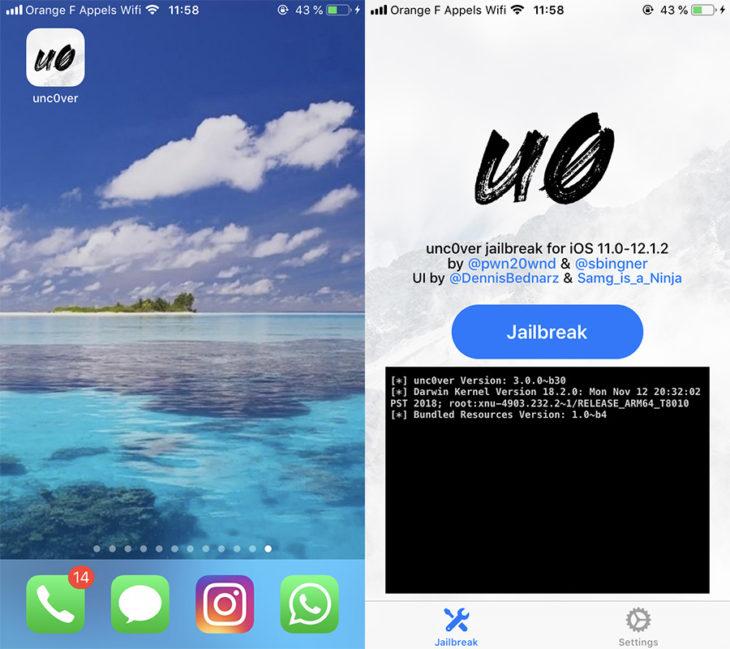 Tutoriel : Jailbreak iOS 12 à iOS 12.1.2 avec Unc0ver bêta (iPhone & iPad)
