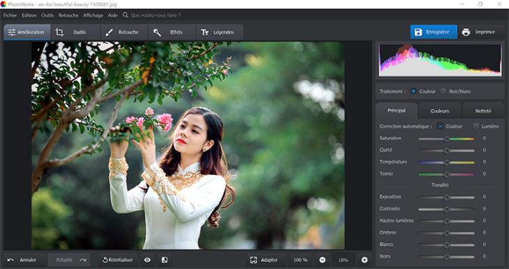 PhotoWorks : un logiciel d'amélioration photo à l'intelligence artificielle