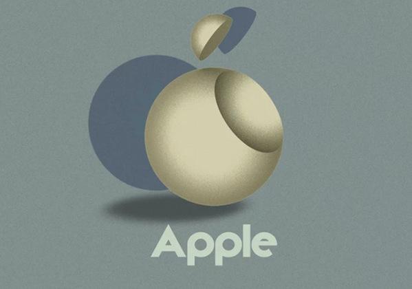 apple logo concept - Les logos d'Apple, Google et Netflix revisités de façon minimaliste