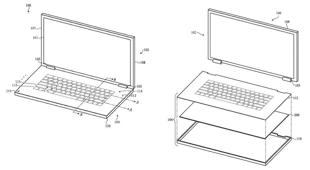 Brevet : Apple songe à un clavier en verre sur le MacBook