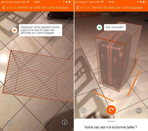easyjet ar - iOS : EasyJet et RyanAir usent de l'ARkit pour mesurer vos bagages