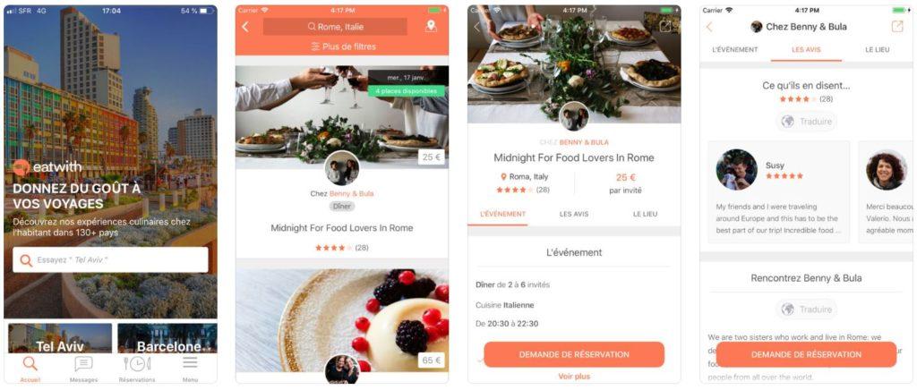 App du jour : Eatwith, dîner chez l'habitant (iPhone - gratuit)
