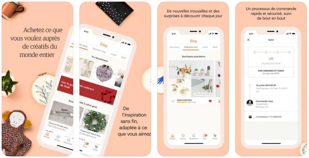 App du jour : Etsy - Articles Créatifs (iPhone & iPad - gratuit)