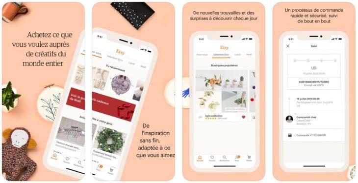 App du jour : Etsy – Articles Créatifs (iPhone & iPad – gratuit)