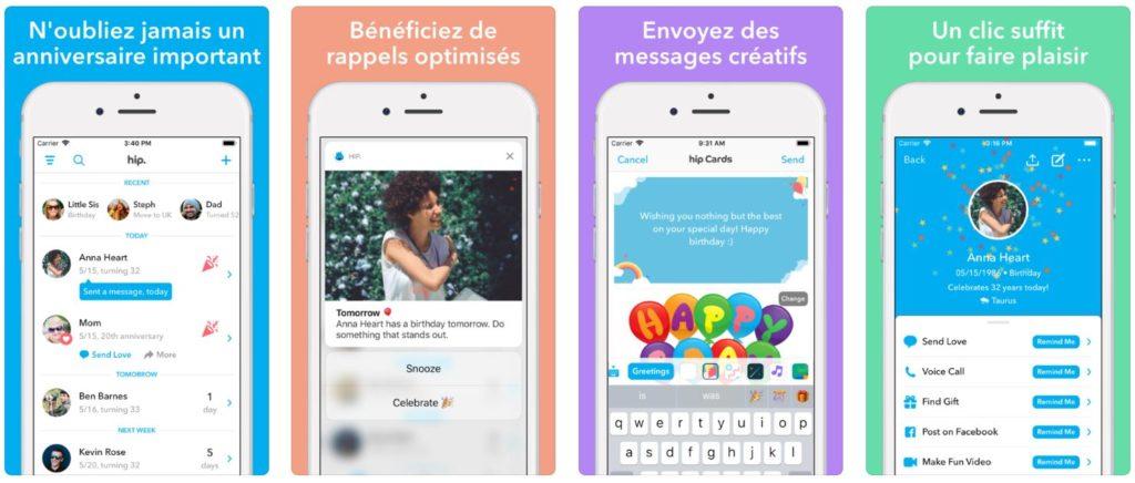 App du jour : Hip - calendrier anniversaire (iPhone & iPad - gratuit)