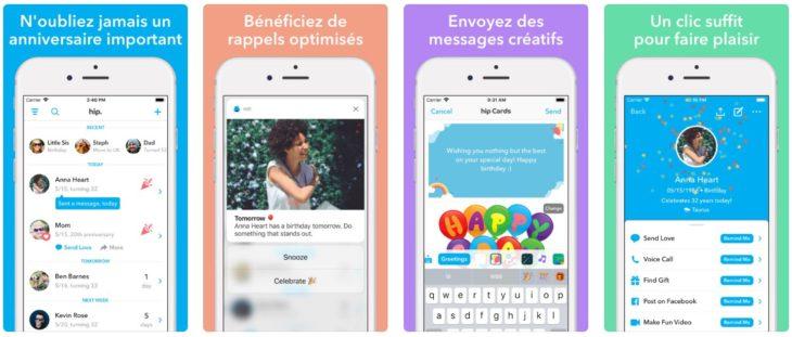 App du jour : Hip – calendrier anniversaire (iPhone & iPad – gratuit)