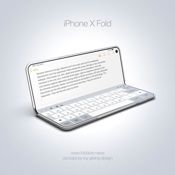 iphone pliable macbook - Concept : et si Apple commercialisait un iPhone pliable ?