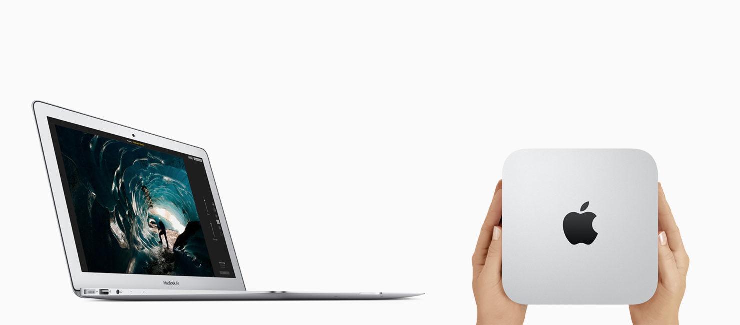 apple vend d sormais des mac mini et des macbook air. Black Bedroom Furniture Sets. Home Design Ideas