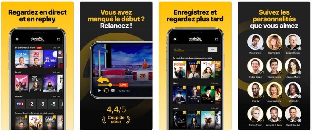 App du jour : Molotov - TV en direct, replay (iPhone & iPad - gratuit)
