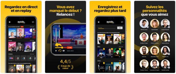 App du jour : Molotov – TV en direct, replay (iPhone & iPad – gratuit)