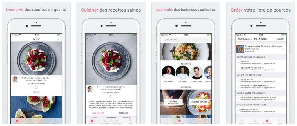 simple feast recettes iphone 1024x435 - App du jour : Simple Feast Recettes (iPhone & iPad - gratuit)