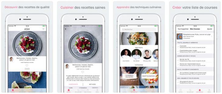 App du jour : Simple Feast Recettes (iPhone & iPad – gratuit)