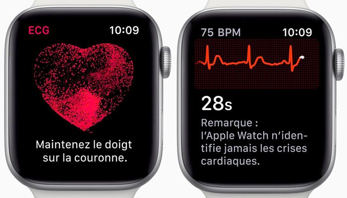 Apple Watch Series 4 Electrocardiogramme Francais - Apple Watch : l'électrocardiogramme enfin disponible sur watchOS 5.2