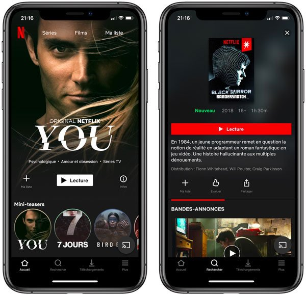 Netflix Application iPhone - Netflix ne supporte plus l'AirPlay d'Apple