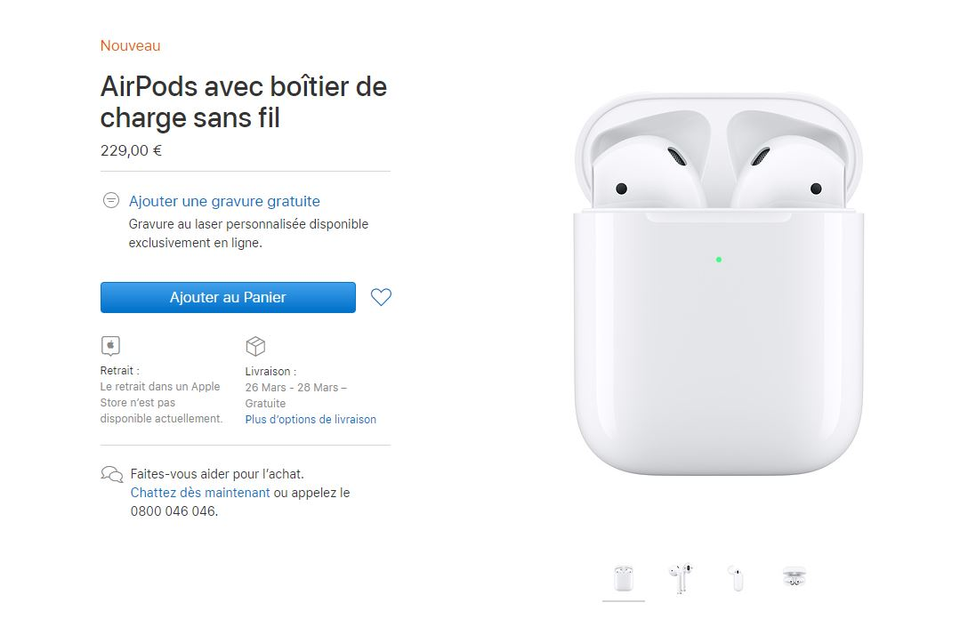 Surprise ! De nouveaux AirPods disponibles à l'achat sur l'Apple Store !