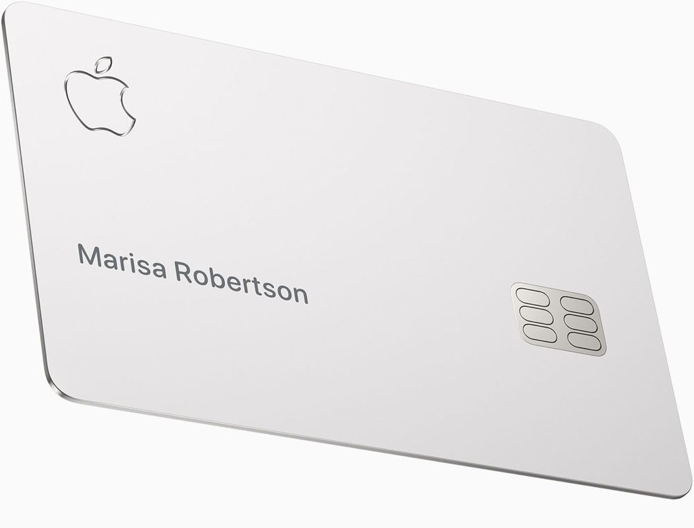 apple card titane - L'Apple Card n'aura pas de sans contact