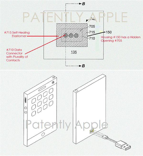 brevet port 2 - Brevet : Apple planche sur un tout nouveau port pour remplacer Lightning
