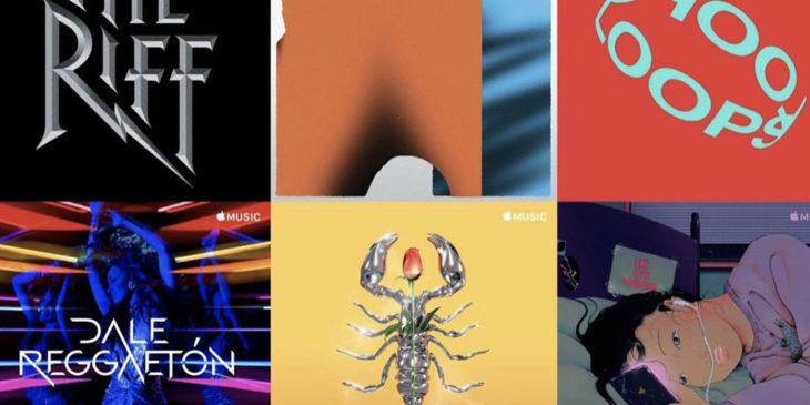 Apple Music : de nouvelles illustrations d'artistes pour de nombreuses playlists