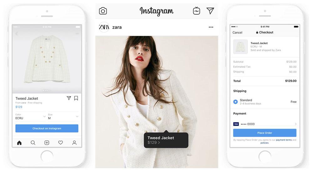instagram checkout zara - Instagram lance Checkout, pour acheter des produits à même l'application