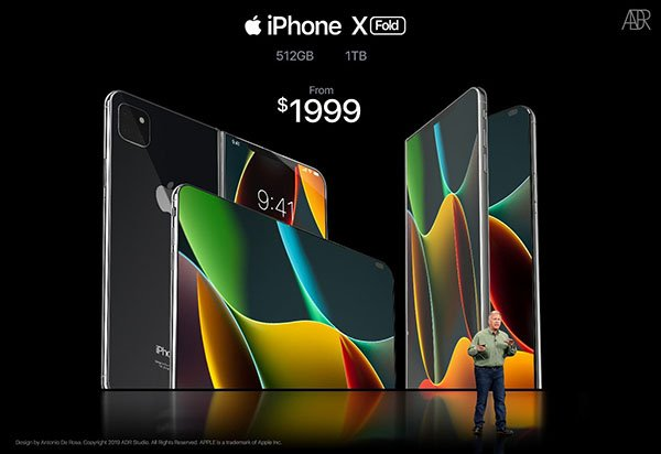 iphone x fold concept 3 - iPhone X Fold : un concept d'iPhone pliable incroyable