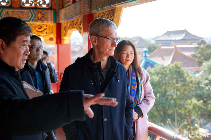Avant la keynote, Tim Cook se rend en Chine