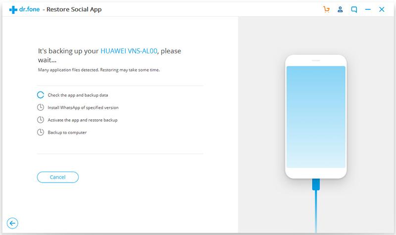 backup whatsapp on android 2 - Comment sauvegarder sélectivement des données WhatsApp sur iPhone & Android ?